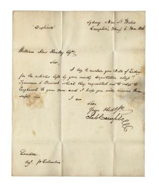 Autograph letter from Robert Campbell to the founder of the London Missionary Society, William...