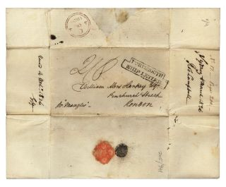 Autograph letter from Robert Campbell to the founder of the London Missionary Society, William Alers Hankey.
