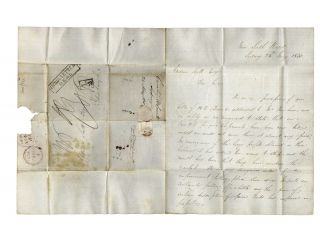 Letter sent via 'Katherine Stewart Forbes' convict ship to Andrew Scott of Edinburgh. MacLAREN...