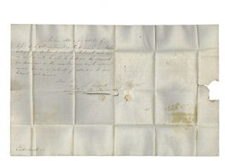 Letter sent via 'Katherine Stewart Forbes' convict ship to Andrew Scott of Edinburgh.