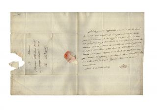 Autograph letter signed, to Vicomte Charles Morel de Vinde regarding the d'Entrecasteaux voyage...