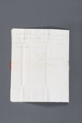 "Important autograph letter signed from the ""Flogging Parson"" Samuel Marsden to the pastoralists' agent George Ranken."