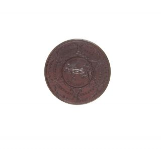 Copper Medal in commemoration of his 1740-1744 Circumnavigation and 1747 defeat of the French at Cap Finisterre.
