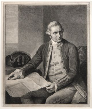 Captain James Cook]. COOK: PORTRAIT, Nathaniel DANCE, after, John Keyes SHERWIN
