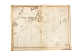 A Chart of the Banks of Newfoundland, Drawn from a great number of hydrographical surveys, chiefly from those of Chabert, Cook and Fleurieu, connected and ascertained by astronomical observations. Captain James COOK.