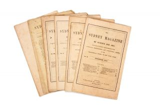 Six issues of 'The Sydney Magazine of Science and Art'. Australian Horticultural, Agricultural Society.