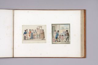 A nineteenth century album containing forty six fine watercolours.