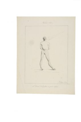 "Original drawing captioned ""M le curé d'Agana en petit negligé"" FREYCINET: URANIE VOYAGE,..."