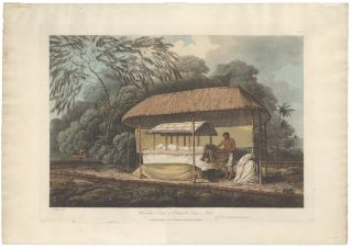 Waheiadooa, Chief of Oheitepeha, lying in State. TAHITI, John WEBBER, after