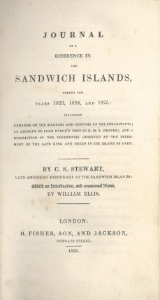 Journal of a Residence in the Sandwich Islands, during the years 1823, 1824, and...