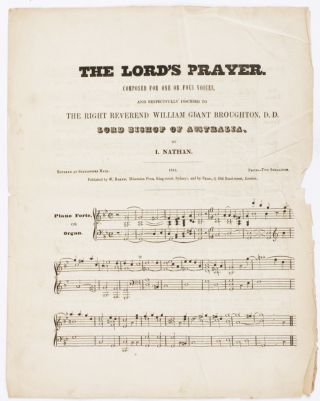 The Lord's Prayer. Composed for one or four voices, and respectfully inscribed to the Right Rev....